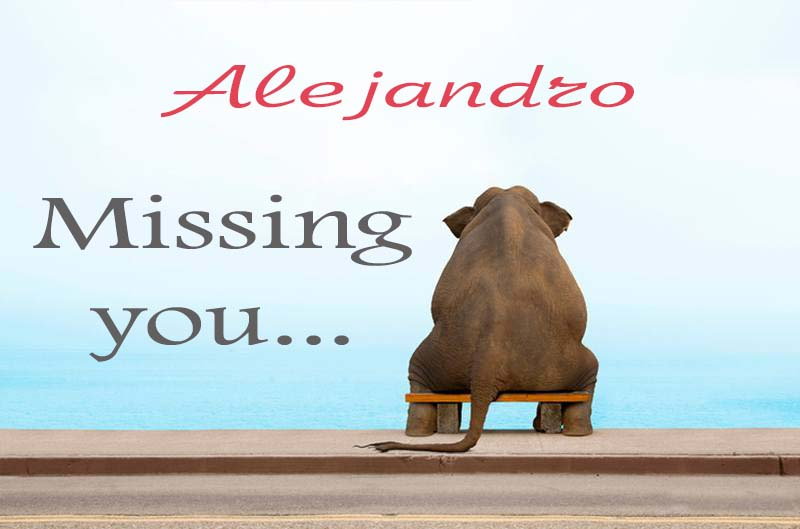 Cards Alejandro Missing you