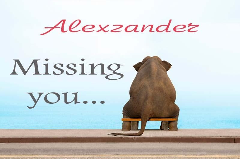 Cards Alexzander Missing you