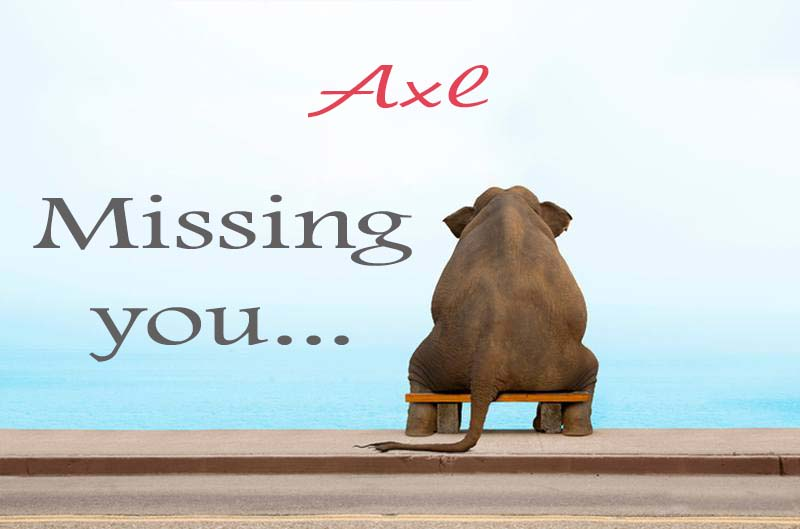 Cards Axl Missing you