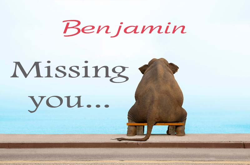 Cards Benjamin Missing you