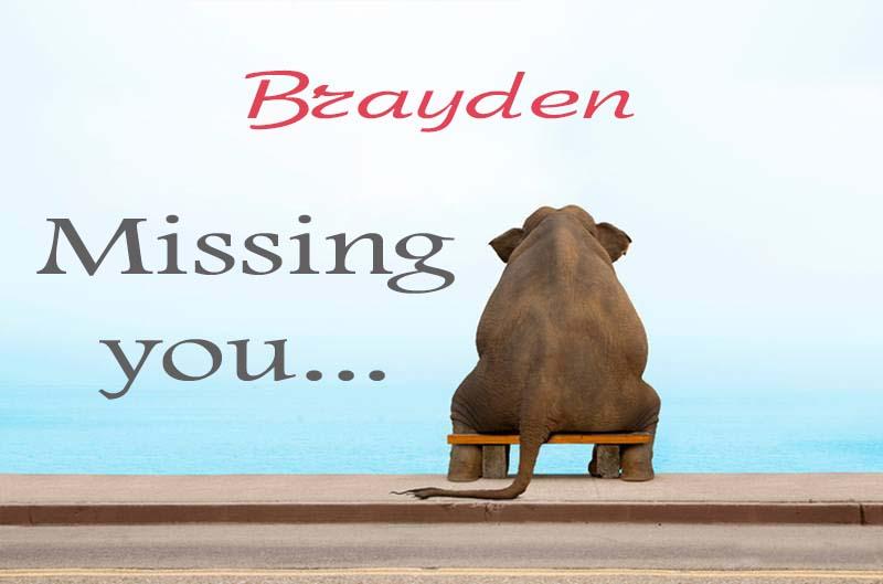 Cards Brayden Missing you