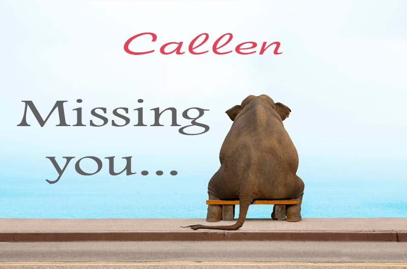 Cards Callen Missing you