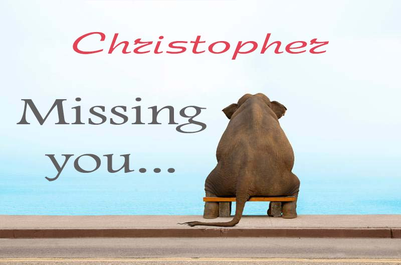 Cards Christopher Missing you