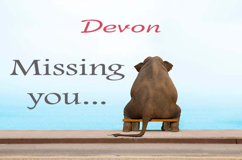 Cards Devon Missing you