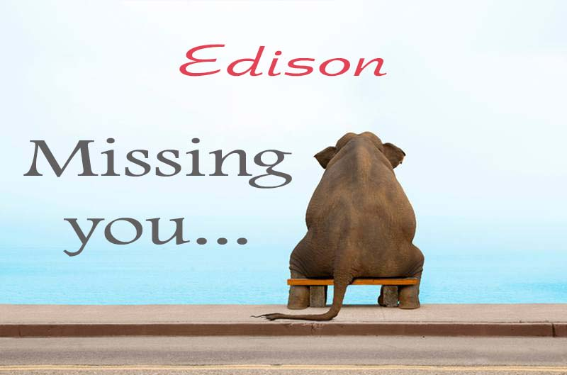 Cards Edison Missing you
