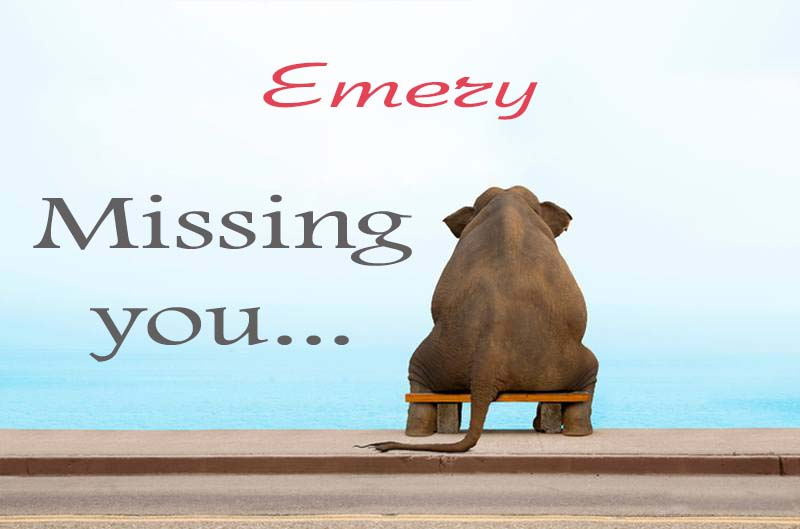 Cards Emery Missing you