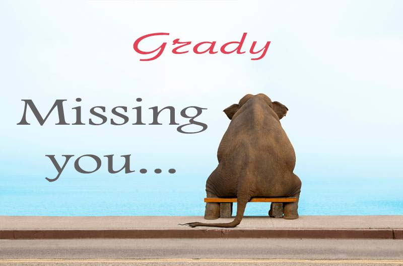 Cards Grady Missing you