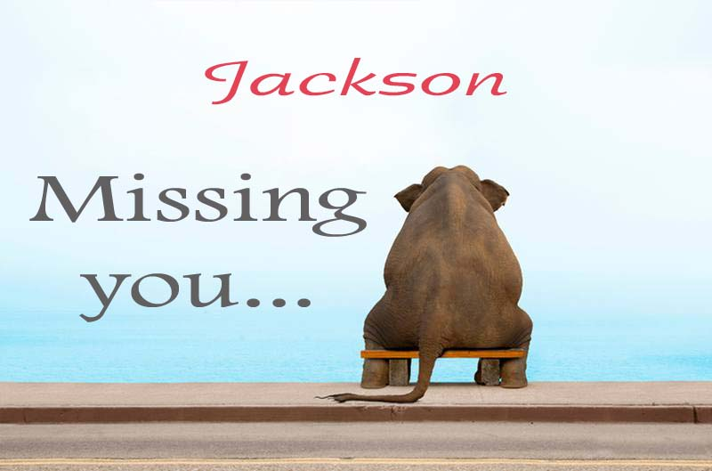 Cards Jackson Missing you