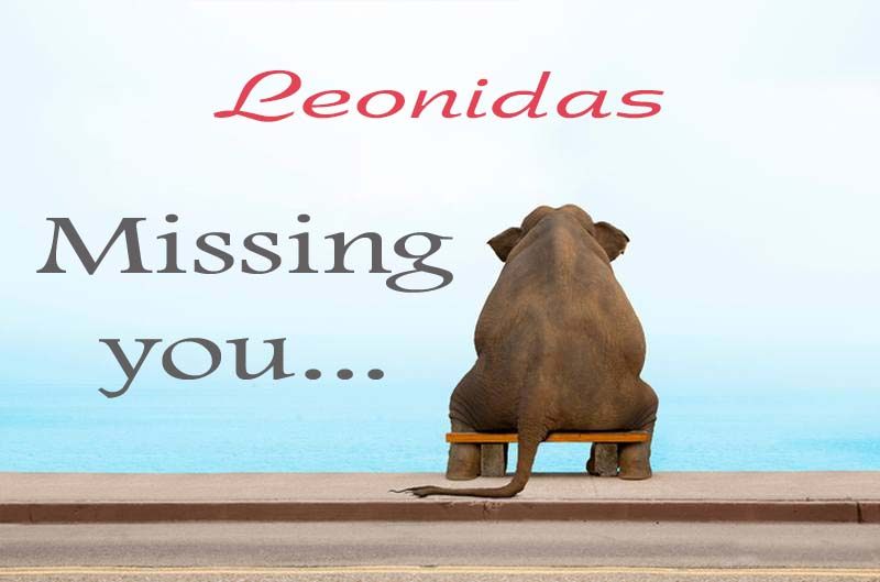 Cards Leonidas Missing you
