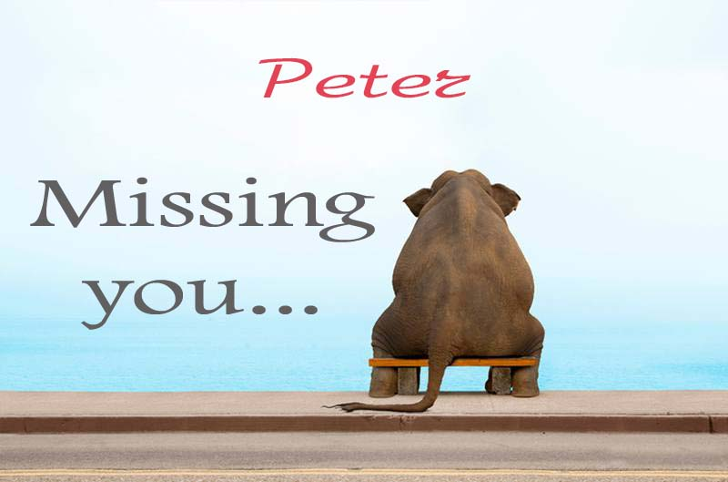 Cards Peter Missing you
