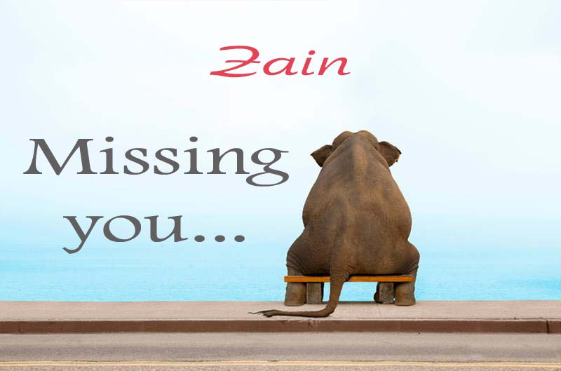 Cards Zain Missing you