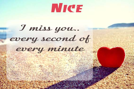 Cards Nice I will miss you every day