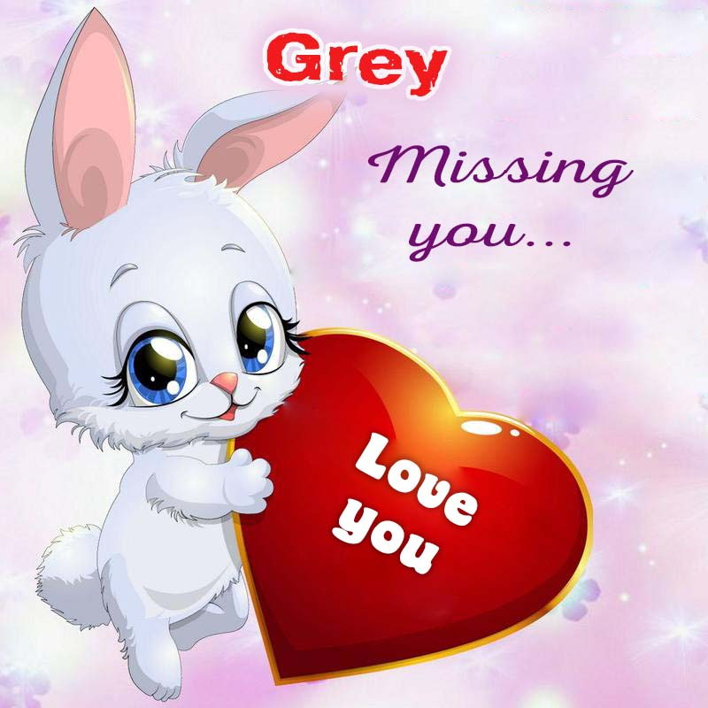 Cards Grey Missing you