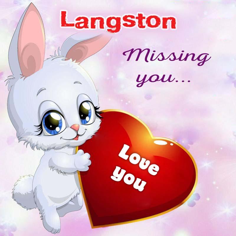 Cards Langston Missing you