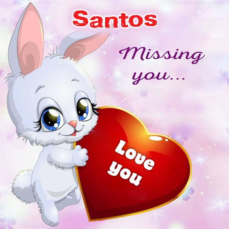 Cards Santos Missing you
