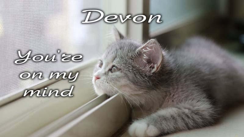 Ecards Missing you so much Devon