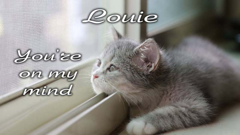 Ecards Missing you so much Louie