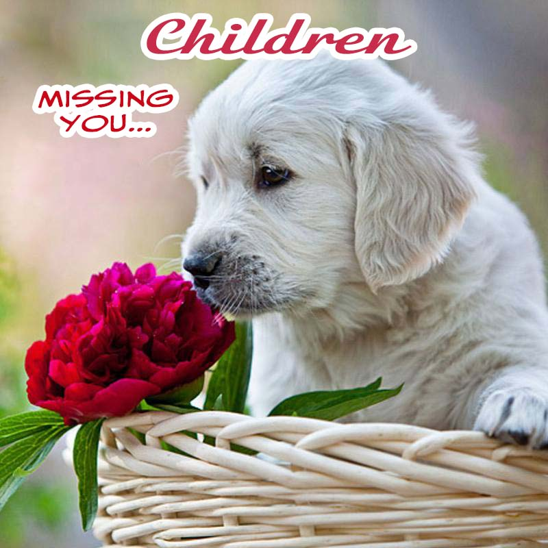 Cards Children Missing you