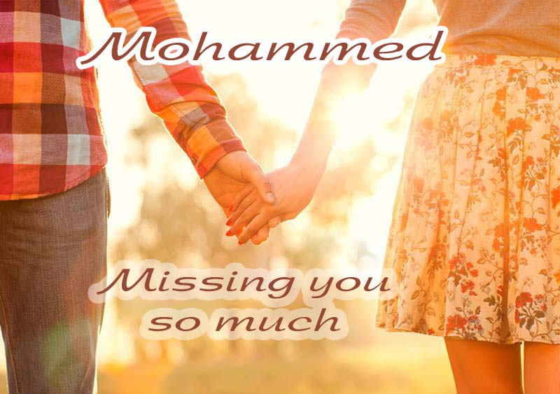 Ecards Missing you so much Mohammed