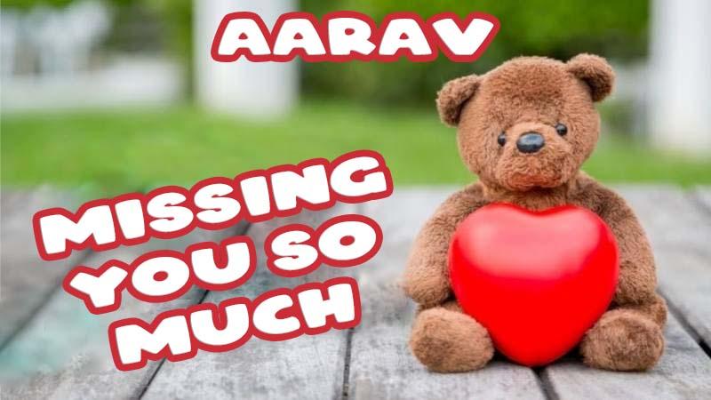 Ecards Aarav Missing you already