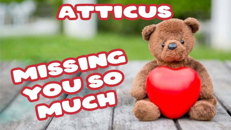 Ecards Atticus Missing you already