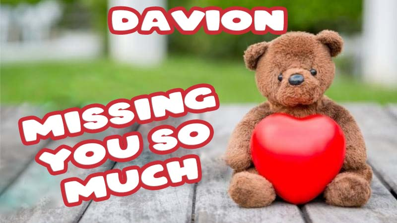 Ecards Davion Missing you already