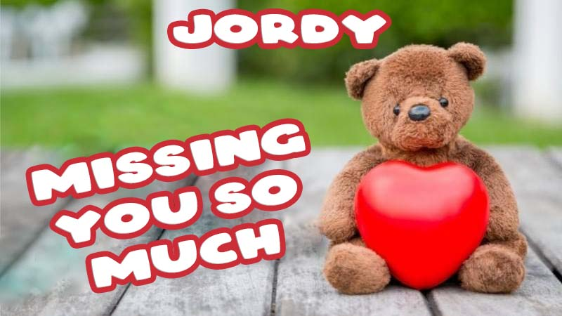 Ecards Jordy Missing you already