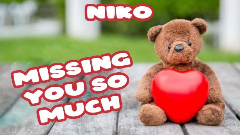 Ecards Niko Missing you already