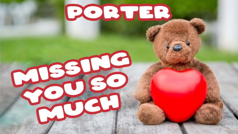 Ecards Porter Missing you already