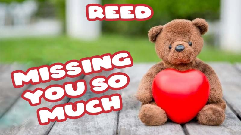 Ecards Reed Missing you already