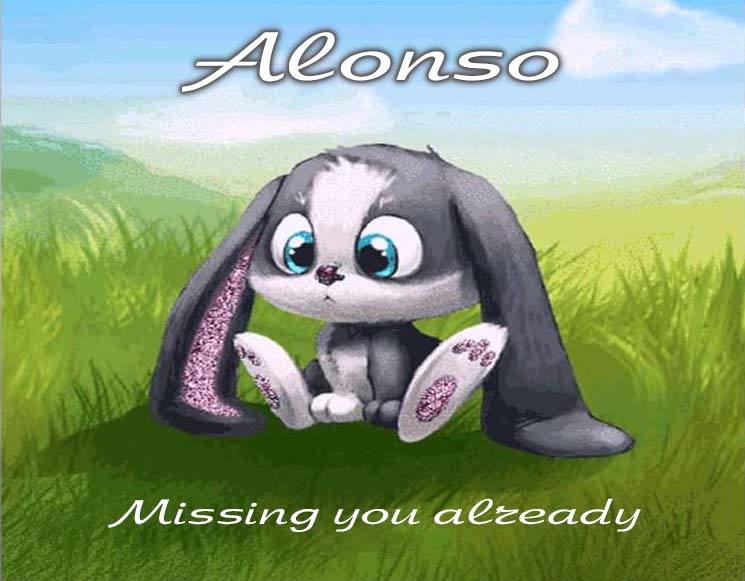 Cards Alonso I am missing you every hour, every minute