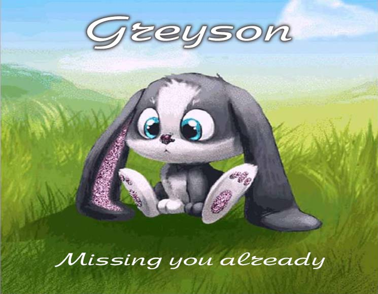 Cards Greyson I am missing you every hour, every minute