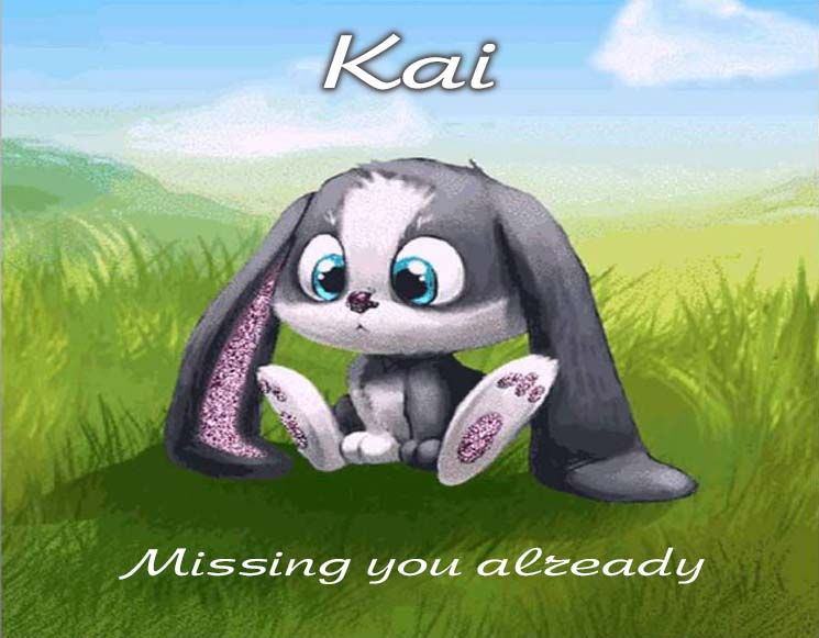 Cards Kai I am missing you every hour, every minute