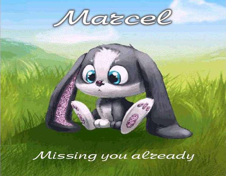 Cards Marcel I am missing you every hour, every minute