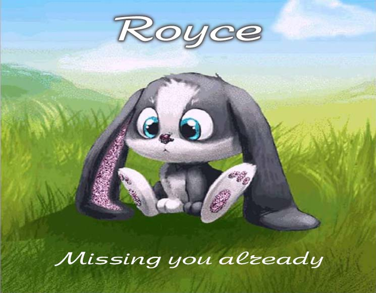 Cards Royce I am missing you every hour, every minute