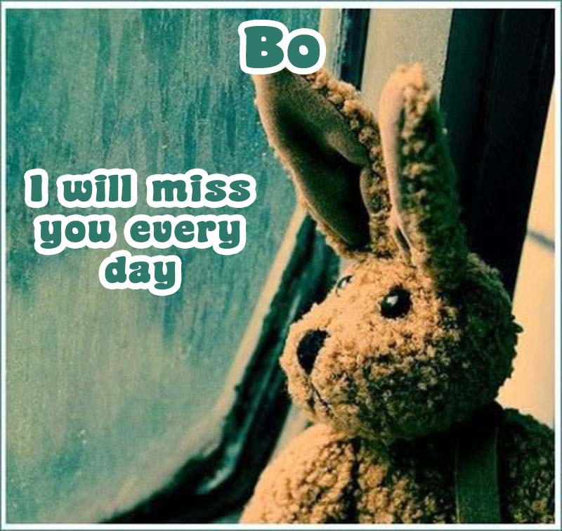 Ecards Bo I miss you.. every second of every minute