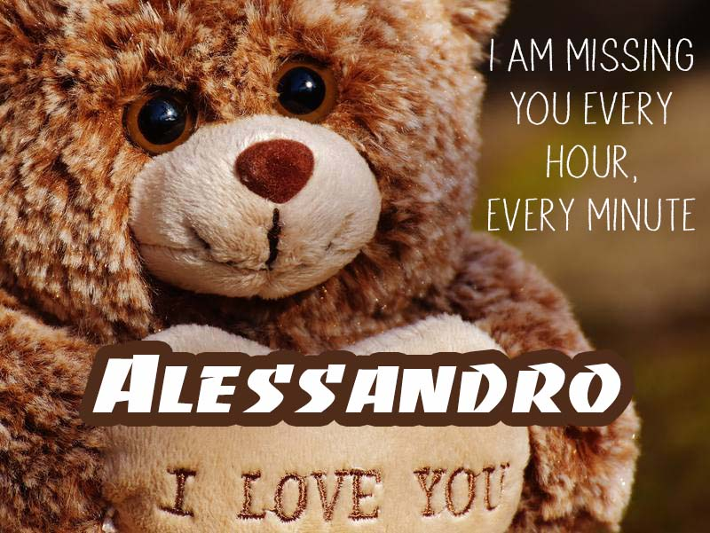 Cards Alessandro I will miss you every day