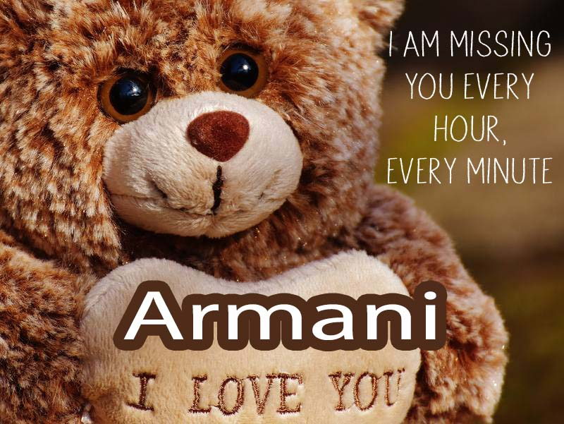 Cards Armani I will miss you every day