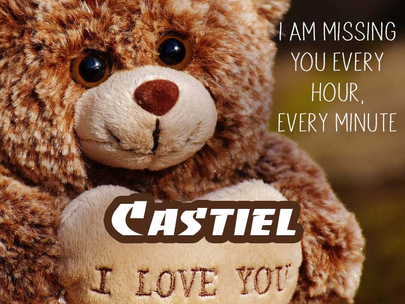 Cards Castiel I will miss you every day