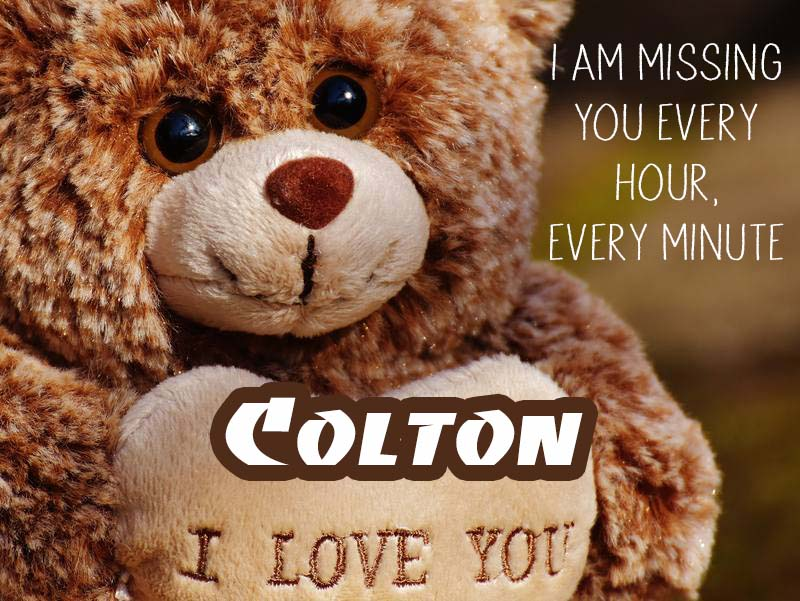 Cards Colton I will miss you every day