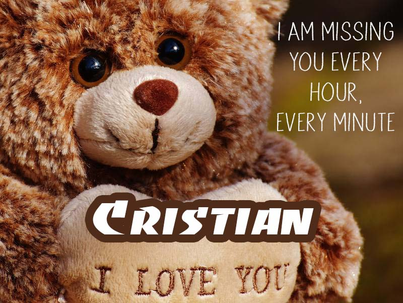 Cards Cristian I will miss you every day