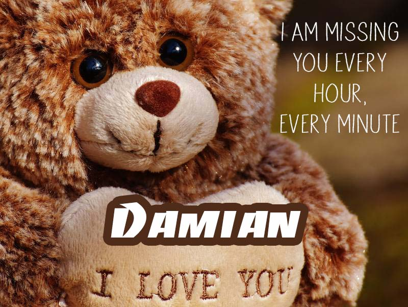 Cards Damian I will miss you every day