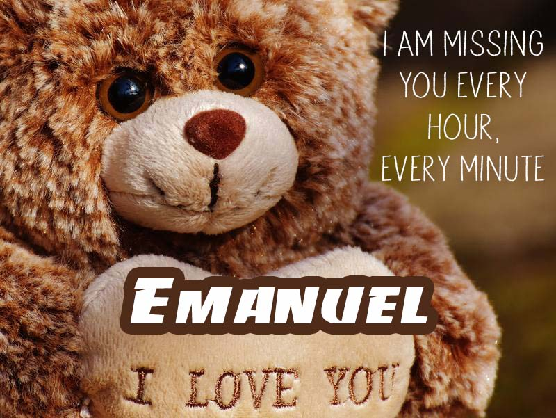 Cards Emanuel I will miss you every day