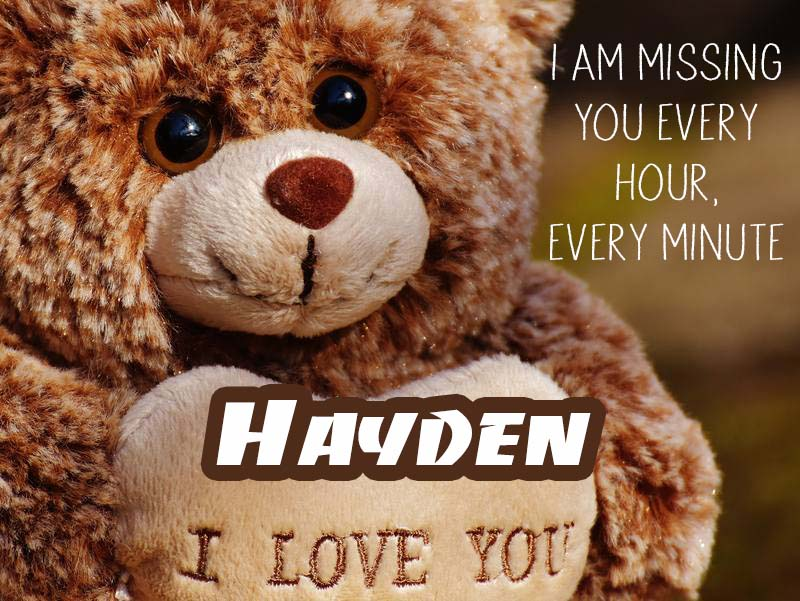 Cards Hayden I will miss you every day