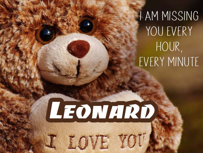 Cards Leonard I will miss you every day