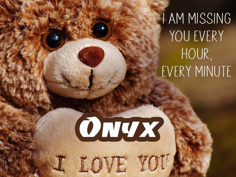 Cards Onyx I will miss you every day