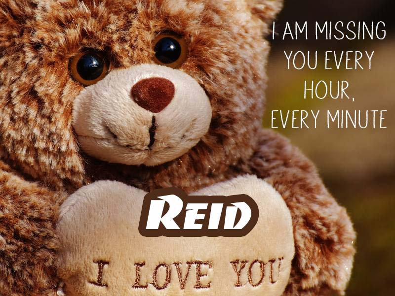 Cards Reid I will miss you every day