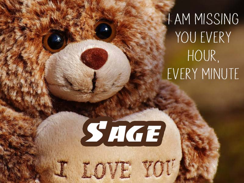 Cards Sage I will miss you every day