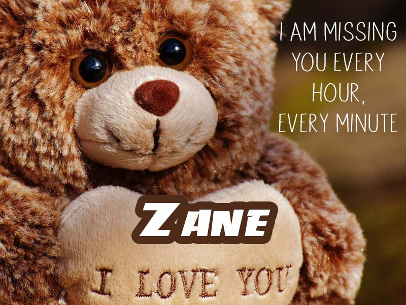 Cards Zane I will miss you every day