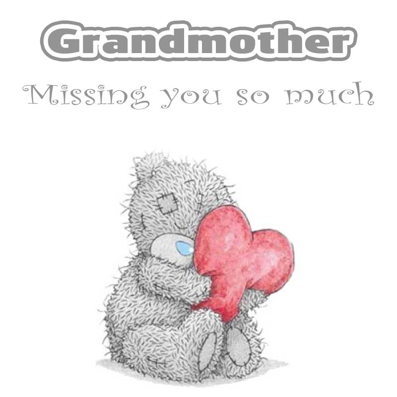 Cards Grandmother I will miss you every day